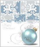 Esferas do Natal. Fundo de Crey. Desenho do vetor Fotografia de Stock Royalty Free