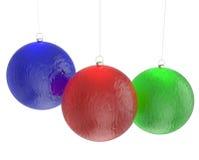 Esferas do Natal isoladas no branco Foto de Stock Royalty Free