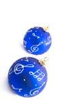 Esferas do Natal isoladas no fundo branco Fotos de Stock Royalty Free