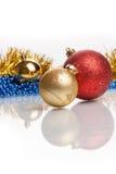 Esferas do Natal no fundo abstrato Fotos de Stock