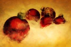Esferas do Natal. Pintura artística. ilustração royalty free