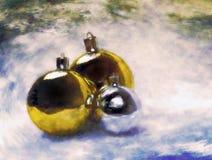 Esferas do Natal. Pintura artística. ilustração do vetor