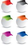 Esferas do pong do sibilo com viseiras Imagens de Stock