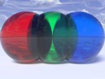 Esferas do RGB ilustração do vetor