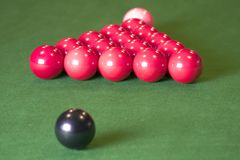 Esferas do Snooker Fotografia de Stock Royalty Free