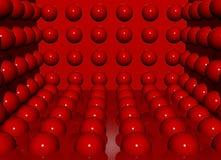 Esferas do vermelho do encanto Fotografia de Stock