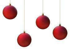 Esferas do vermelho do Natal Fotos de Stock