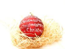 Esferas do vermelho do Natal Fotografia de Stock