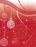Esferas do vermelho do Natal Fotos de Stock Royalty Free
