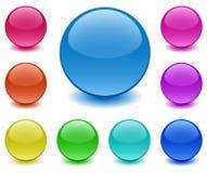 Esferas do vidro à terra Imagem de Stock Royalty Free