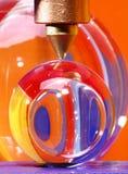 Esferas do vidro sob o ponto Fotos de Stock