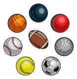 Esferas dos esportes ajustadas ilustração do vetor