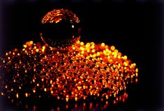 Esferas douradas Imagens de Stock Royalty Free
