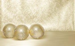 Esferas douradas Fotografia de Stock Royalty Free