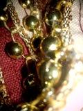 Esferas douradas Fotos de Stock Royalty Free