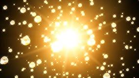 Esferas douradas brilhantes capazes de dar laços em sem emenda ilustração do vetor