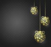 Esferas douradas do Natal ilustração royalty free