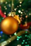 Esferas douradas do Natal Imagem de Stock Royalty Free