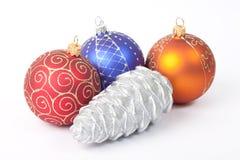 Esferas e brinquedos do ano novo Foto de Stock