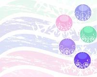 Esferas e flocos de neve do Natal ilustração royalty free