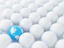 Esferas e globo azul Imagem de Stock