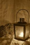 Esferas e lanterna Fotografia de Stock
