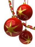Esferas e ornamento do Natal imagem de stock