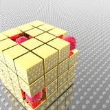 Esferas em um cubo Imagens de Stock Royalty Free