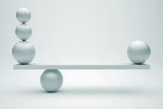 Esferas en equilibrio libre illustration