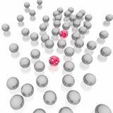 Esferas enamoradas rojas Stock de ilustración