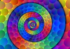 Esferas espirais Imagem de Stock