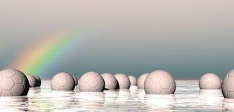 Esferas flotantes abstractas Fotos de archivo