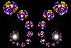 Esferas Flowery Foto de Stock