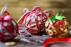 Esferas Handmade do Natal Fotos de Stock