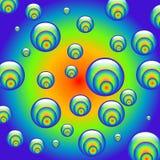 Esferas hipnóticas do arco-íris Fotos de Stock Royalty Free