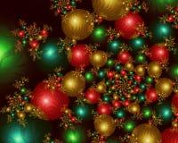Esferas infinitas do Natal - imagem do Fractal ilustração royalty free