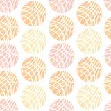Esferas listradas de cores pastel diferentes no fundo branco Fotografia de Stock Royalty Free