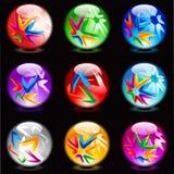 Esferas lustrosas Foto de Stock