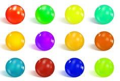 Esferas lustrosas coloridas ilustração royalty free