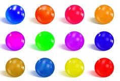 Esferas lustrosas coloridas ilustração stock