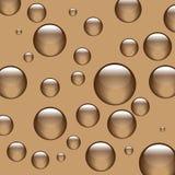 Esferas marrons do fundo Fotografia de Stock Royalty Free