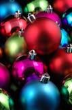 Esferas Multi-color do Natal Fotografia de Stock