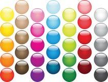 Esferas Multi-coloured ajustadas Foto de Stock