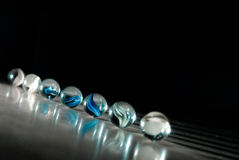 Esferas Mystical azuis imagens de stock royalty free