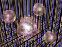 Esferas na matriz. ilustração royalty free