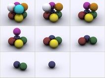 Esferas nas cores ilustração do vetor