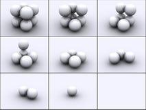Esferas nas etapas ilustração stock