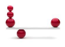 Esferas no balanço ilustração do vetor