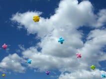 Esferas no céu Fotografia de Stock Royalty Free