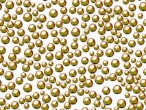 Esferas ou bolhas verdes no fundo branco Imagens de Stock